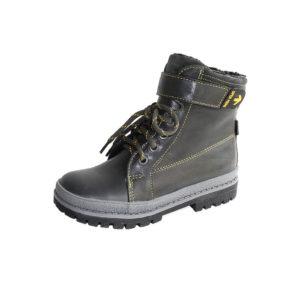 Ботинки зимние 3-1369 черный хром для мальчиков