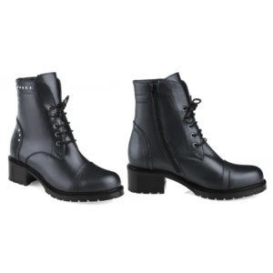 Ботинки женские демисезонные 3237 б черный метал. Горно-Алтайск