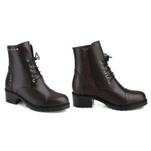Ботинки женские демисезонные 3237 б коричневый